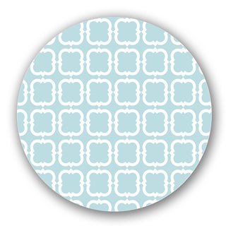 Blue/ Off-white Geometric Custom Printed Lazy Susan