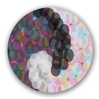 Black/ Pink Bubbles Custom Printed Lazy Susan