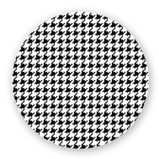 Black/ Off-White Houndstooth Custom Printed Lazy Susan