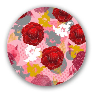 Red/ Pink Custom Printed Lazy Susan