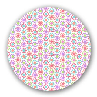 Multicolored/ Pink Custom Printed Lazy Susan