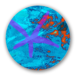 Blue/ Multicolored Custom Printed Lazy Susan