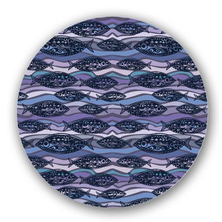 Blue/ Purple Custom Printed Lazy Susan