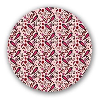 Pink/ Off-white Paisley Custom Printed Lazy Susan