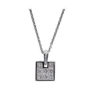Kabella 18k White Gold 5/8ct TDW Diamond Pendant (G-H, SI1-SI2)