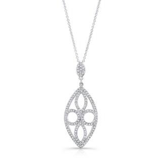 14k White Gold 2/5ct TDW Diamond Pendant (H-I, VS1-VS2)