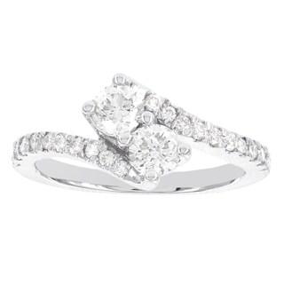H Star 14k White Gold 1/2ct TDW Diamond Engagement Ring (I-J, I1-I2)