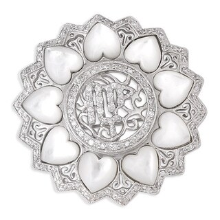 Collette Z Sterling Silver Cubic Zirconia Heart Wreath Pin