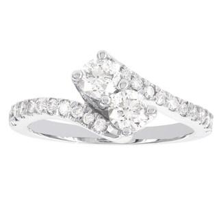 H Star 14k White Gold 1ct TDW Diamond Engagement Ring (I-J, I1-I2)