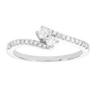 H Star 14k White Gold 1/4ct TDW Diamond Engagement Ring (I-J, I1-I2)