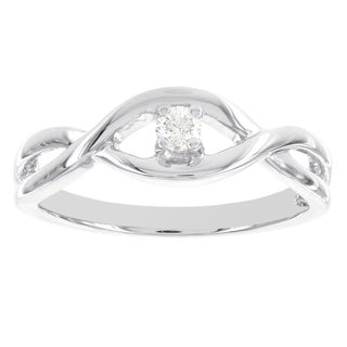 H Star Sterling Silver 1/10ct TDW Diamond Solitaire Promise Ring (I-J, I2-I3)