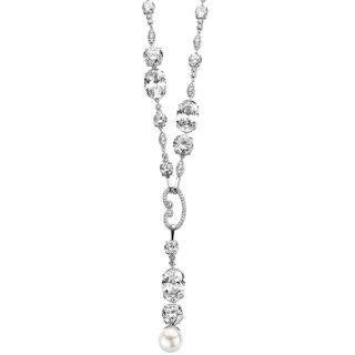 Collette Z Sterling Silver Cubic Zirconia Y Necklace