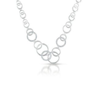 Collette Z Sterling Silver Circle Galore Necklace