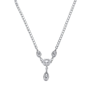 Collette Z Sterling Silver Multi Shape Cubic Zirconia Simple Necklace