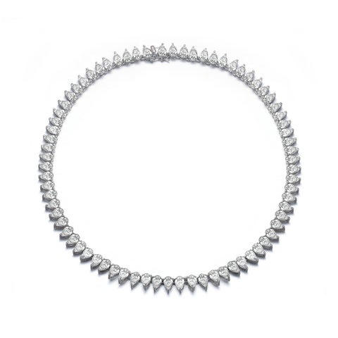 Collette Z Sterling Silver Cubic Zirconia Eternity Necklace