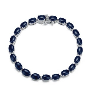 Collette Z Sterling Silver Black Stone Bracelet