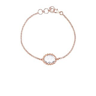 Collette Z Rose Rose Overlay Gemstone Bracelet