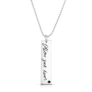 Collette Z Base Metal Follow Your Heart Necklace - White