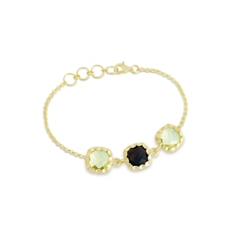 Collette Z Gold Overlay Two Gemstone Bracelet