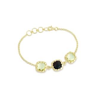 Collette Z Gold Overlay Two Gemstone Bracelet