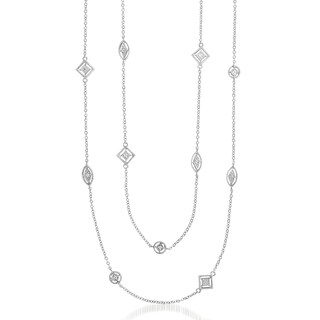 Collette Z Sterling Silver Gemstone Accent Necklace