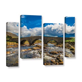 ArtWall Steve Ainsworth's 'The Old Stone Bridge' 4-piece Gallery Wrapped Canvas Staggered Set