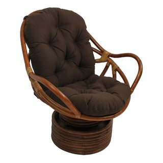 Blazing Needles Swivel Rocker 48-inch Twill Cushion-Forest Green (As Is Item)