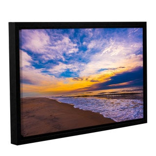 ArtWall Steve Ainsworth's 'The Long Way' Gallery Wrapped Floater-framed Canvas