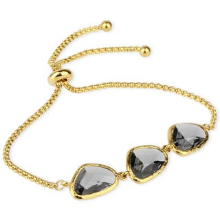 Handmade Saachi Faux Gem Adjustable Bracelet (China)