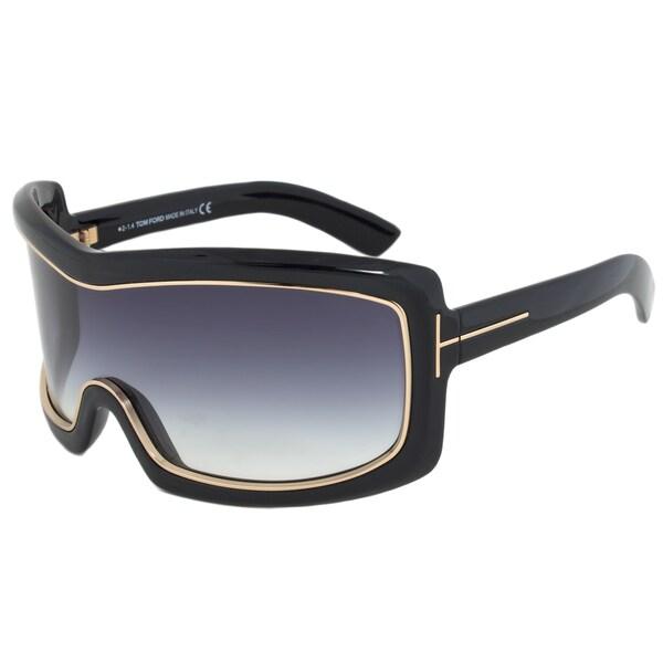 6930c1ecfeb Tom Ford FT0305 01B Olga Oversized Shield Sunglasses - Free Shipping Today  - www.lesbauxdeprovence