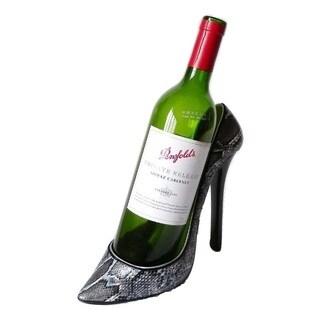 Elegance Snakeskin Stiletto Shoe Bottle Holder