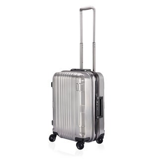 Lojel Kozmos Frame 22-inch Small Carry-on Silver Hardside Upright Spinner Suitcase
