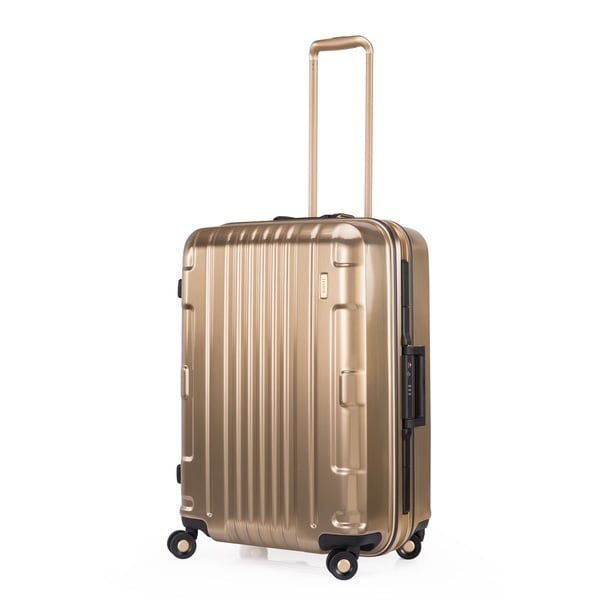 Lojel Kozmos Frame 26-inch Medium Gold Hardside Upright Spinner Suitcase