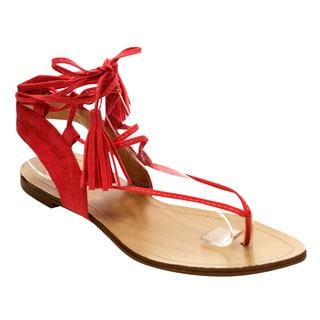 Beston Cd53 Women's Comfort Thong Tassel Gladiator Style Flat Sandals