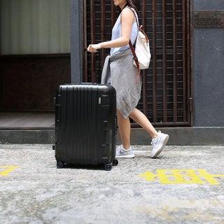 Lojel Kozmos Frame 29-inch Large Black Hardside Upright Spinner Suitcase