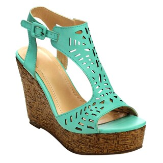 Beston Cd39 T-strap Wedge Sandals