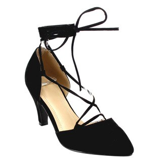 Beston Cd57 Lace Up D'orsay Pumps
