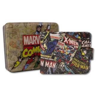 Marvel Comic Black Outside Print Wallet