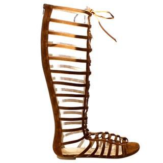 Beston Cd63 Gladiator Knee High Flat Sandals
