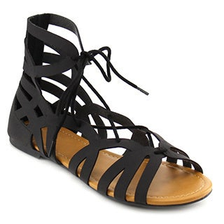 Beston Ia31 Lace Up Gladiator Sandals