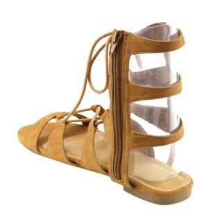 Beston Ia27 Gladiator Mid Calf Sandals