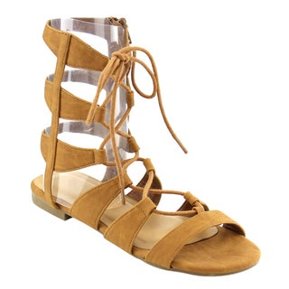 Beston Ia27 Gladiator Mid Calf Sandals