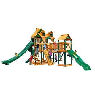 Gorilla Playsets Malibu Treasure Trove II Swing Set with Timber Shield