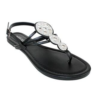 Olivia Miller Omm-9949 Rhinestone Thong Sandal