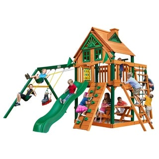 Gorilla Playsets Navigator Treehouse Swing Set with Timber Shield