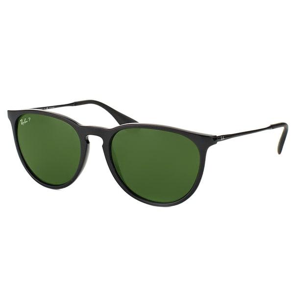 50f1363acf Ray-Ban Erika RB 4171 600.5P Matte Black Round Plastic Sunglasses
