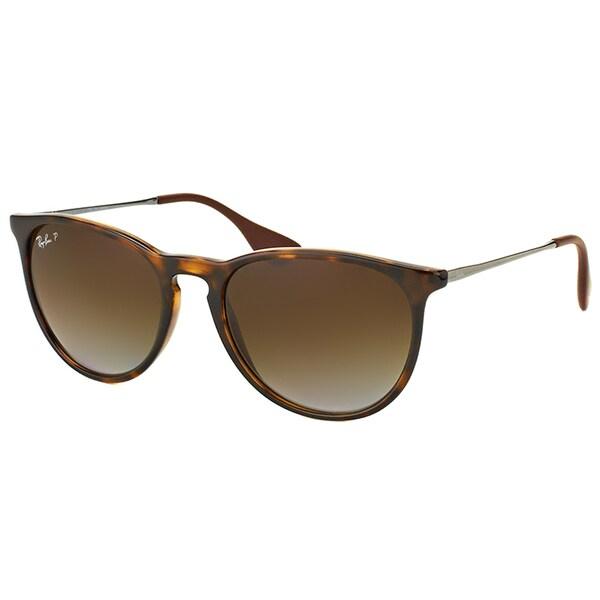 029fea9359 Ray-Ban Erika RB 4171 710 T5 Matte Havana Round Plastic Sunglasses