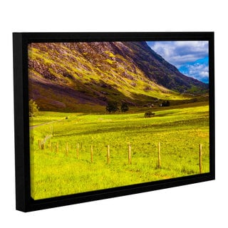 ArtWall Steve Ainsworth's 'Highland Way I' Gallery Wrapped Floater-framed Canvas