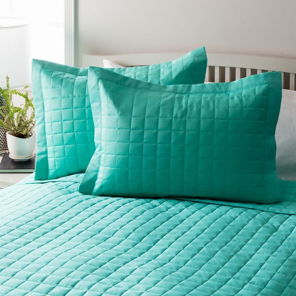 Solid colored 700 thread count cotton quilted sham free for Couch 700 euro