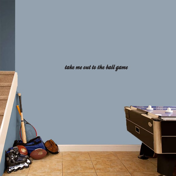 Take Me Out To The Ball Game' 28 x 3-inch Wall Decal